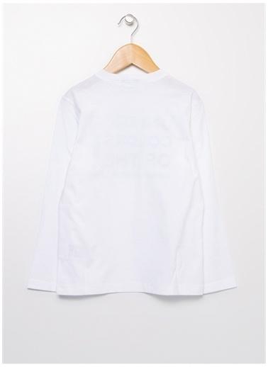 Benetton Benetton 322113I1XC151S Baskılı Erkek T-Shirt Beyaz